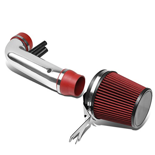Replacement for Ford Mustang 4.6L V8 Red Polished Air Intake System w/Red Core Air Filter