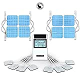 HealthmateForever 15 Modes Digital Pulse Pain Relief Device| TENS CT15AB with 16 Long Life Pads | Back Shoulder Muscle Soreness | Improve Muscle Performance | 4 Outputs FDA Cleared