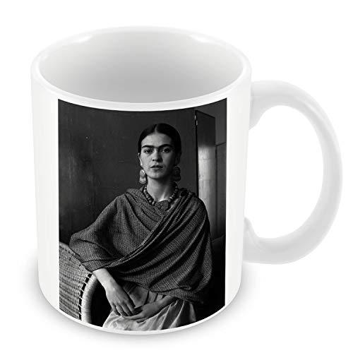 Taza de Cerámica Foto de la Famosa Estrella Frida Kahlo Pintor Original 13