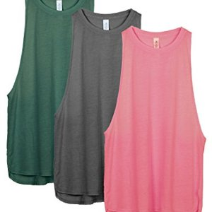 icyzone Workout Tank Tops for Women - Running Muscle Tank Sport Exercise Gym Yoga Tops Athletic Shirts(Pack of 3) 39