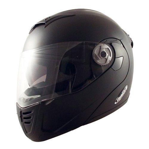 TNK工業 スピードピット インナーシールド内蔵システムヘルメット PT-2 ハーフマッドブラック Lサイズ 51208.0