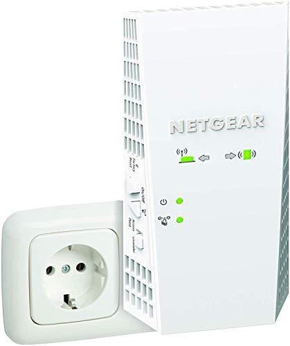 NETGEAR Ripetitore WiFi Mesh AC1750 EX6250, Wifi Extender Dual Band, Porta Lan, Ripetitore Wifi wireless Compatibile con Modem Fibra e Adsl