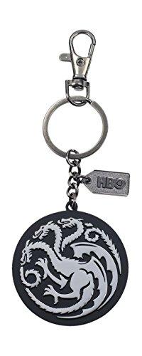Game of Thrones Llavero Logo de Metal Targaryen, Color Plateado (SD Toys SDTHBO27589)