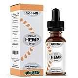Anjeca | Prime Hemp Drops | Huile de graines de chanvre | 4000 mg | Chanvre naturel
