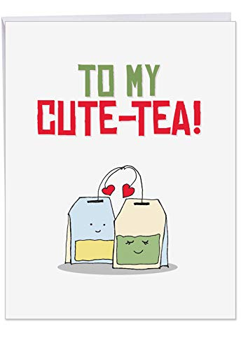 The Best Card Company - Jumbo Valentine's Day Greeting Card (8.5 x 11 Inch) - Big Love Card for Valentines - Yummy Puns J5659IVDG