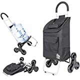 dbest products Stair Climber Trolley Dolly, Black Shopping Grocery...