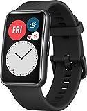 HUAWEI WATCH FIT Smartwatch, 1,64 Zoll AMOLED-Display, Quick-Workout-Animationen, 10 Tage Akkulaufzeit, 96 Trainingsmodi, GPS, 5ATM, SpO2-Sensor, Herzfrequenzmessung, Graphit Black
