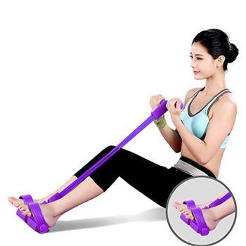 Corde de traction élastique, bandes de résistance, corde de traction de musculation, corde de traction de musculation, équipement de fitness de corde de traction élastique pour l'abdomen, taille