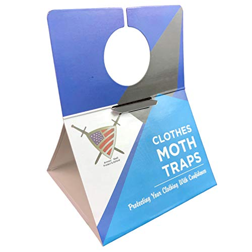 Moth Traps Closet Clothing - (6 Pack) Moths Clothes Trap with Unique Hanging Design, Pheromone Attractant Catches Male Moths Naturally without Toxic Repellant is Family Safe with Long Lasting Effects.