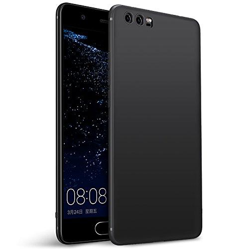Olliwon Huawei P10 Hülle, Dünn Leichte Schutzhülle Schwarz Silikon TPU Bumper Case Cover für Huawei P10 -Schwarz