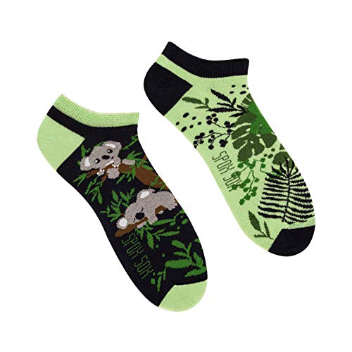 Spox Sox Low Unisex - multicoloured, colourful ankle socks for individualists - 44/46 EU 10/12 UK -...