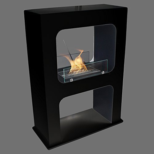 Druline Boston Black Bio-Ethanol Chimney Quality Standing Chimney Luxury Fireplace Table Fireplace Gel Fireplace