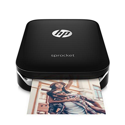 HP Sprocket Portable Photo Printer, Print Social Media Photos on 2x3' Sticky-Backed Paper - Black (X7N08A)