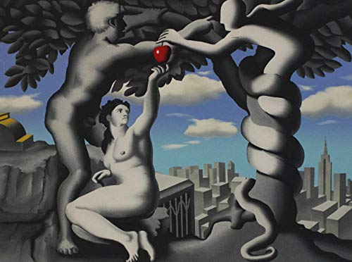 Mark Kostabi, The big apple,1998, Serigrafia firmata e numerata