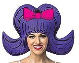 Rasta Imposta Comic Wig - 60s Bouffant,Purple,One Size