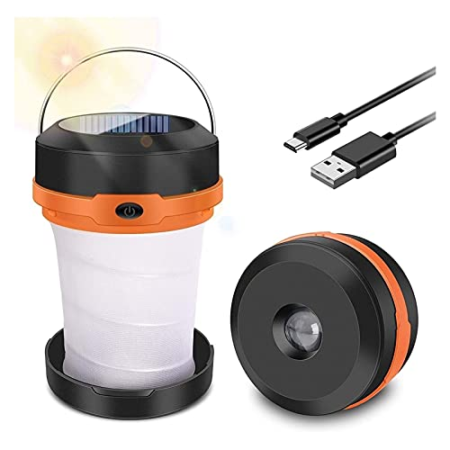 SONG Camping Ligh, Design Pliable, Solaire ou USB, Portable 3 Modes LED de...