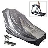 Oslimea Waterproof Treadmill Cover, Sports Running Machine Protective Dust-Proof Cover for Outside (Grey, 63' x 37' x 43')