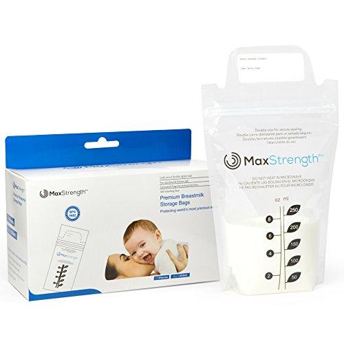 Contenitori per lo stoccaggio del latte materno Set da 120 pz, 8 oz 250ml Sacchetti pre-sterilizzati...