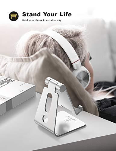 Product Image 1: Lamicall Supporto Telefono Regolabile, Dock Telefono – Universale Supporto Dock per iPhone 12 Mini, 12 PRO Max, 11 PRO, XS Max, X, XR, 8, 7, 6 Plus SE, Samsung S10 S9 S8, Huawei, Smartphone – Argento