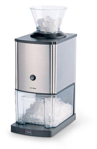 Trebs Broyeur à glace en acier inoxydable idéal pour les boissons gazeuses, les cocktails ou la préparation de desserts froids (1 kg de glace pilée par minute, capacité 3 litres, 80 watts)