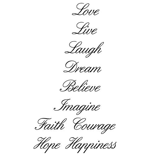 Home Find Love Live Laugh Dream Believe Imagine Faith Courage Hope Happiness Stairs Step Sign Home Vinyl Wall Decals Quotes Sayings Words Arts Decors Lettering Vinyl Wall Arts for Upstaris Stairs