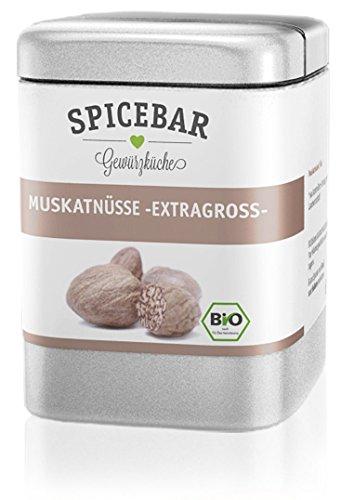 Muskatnuss in Premium Bio Qualität, Muskat Handverlesen 9-12 Stk. (60g), Muskatnüsse ganz
