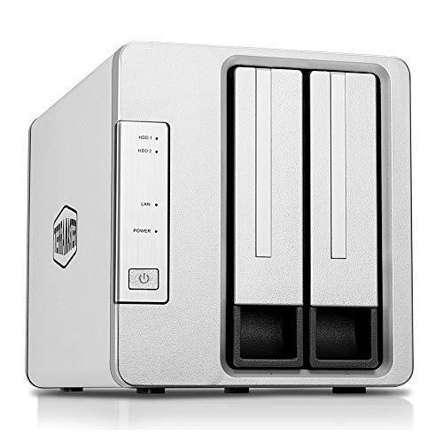 TerraMaster F2-210 2ベイNAS クアッドコアCPU 自宅&SOHO向け スナップショット機能 dlna対応(HDD付属なし)2年保証