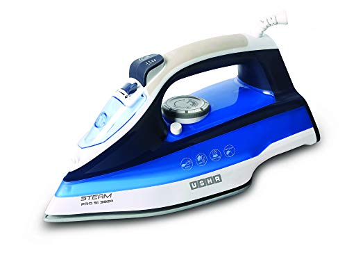 Usha Steam Pro SI 3820 Steam Iron 2000 W with Easy-Glide Durable Ceramic Soleplate, Powerful Steam...