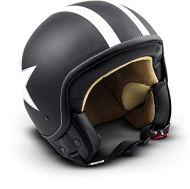 SOXON SP-301-STAR Black Casco Demi-Jet Chopper Cruiser Biker Mofa Helmet Urbano Bobber Vintage Retro Scooter Piloto Moto Motocicleta Urban Vespa, ECE Certificado, Incluyendo Bolsa de Casco, Negro/Blanco, XS (53-54cm)