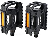 zonkie Bicycle Pedals, Bike Pedals, Plastic MTB Pedals, 9/16 Inch