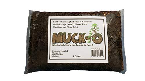 Muck-O Bonsai Muck Keto Soil for Making Kokedama, Kusamono and...