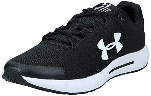 Under Armour Men's Micro Pursuit Bp Competition Running Shoes, Black Black White White 001 001, 10.5 UK