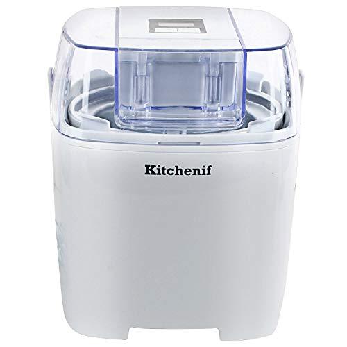 Kitchenif Digital Ice Cream Sorbet Slush & Frozen Yoghurt Maker (1.5 Ltr), White