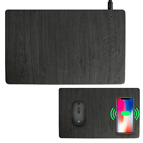 JCREN Mouse Pad with Built-In 10W Fast Wireless Charger