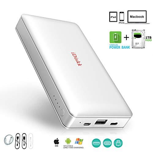 Disco rigido esterno da 1000GB (1TB), Chiavetta USB Stick per iPhone 5/6/7/7/8/X,XR, iPad Pro e...