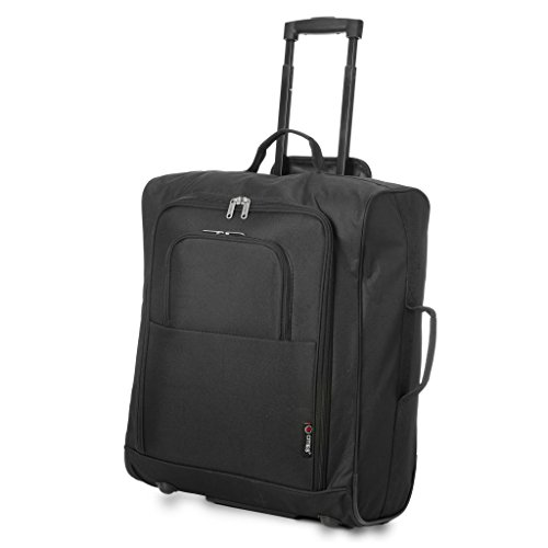 5 Cities Easyjet, British Airways, Jet2 56X45X25Cm Maximum Cabin Hand Luggage Approved Trolley Bag...