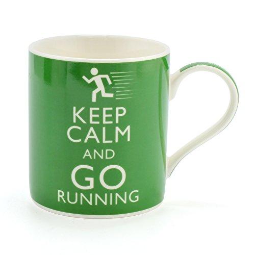 Premium KEEP CALM AND GO RUNNING Becher. Perfekte Keramik Porzellan Tasse für Jogger, Marathon...