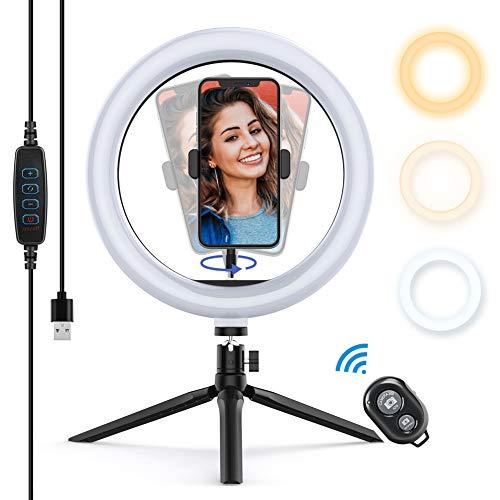 Yoozon Luce Tik Tok LED Anello Treppiedi,Ring Light con Telecomando Bluetooth per...
