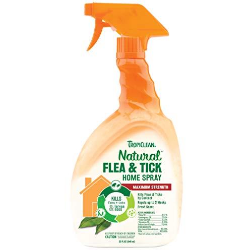 TROPICLEAN Natural, Spray de Pulgas y Garrapatas para el Hogar, 946 ml
