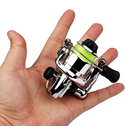 Urisgo - Mini mulinello tascabile in lega di alluminio, per pesca alla carpa e alla trota, acqua dolce e salata