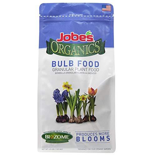 Jobe's Organics 9626 Bulb Granular Fertilizer, 4 lb, Brown