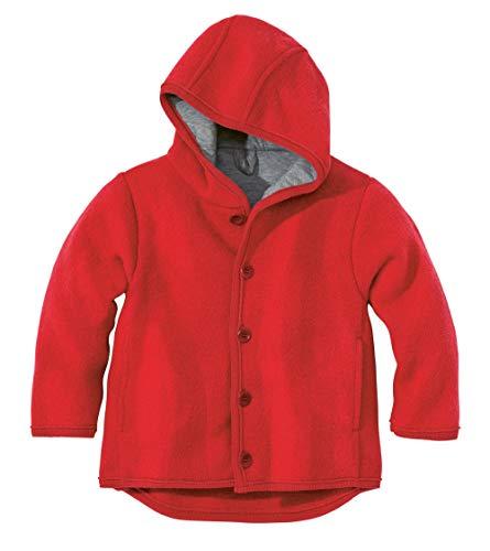 Disana 32303XX - Walk-Jacke Wolle rot, Size / Größe:62/68 (3-6 Monate)
