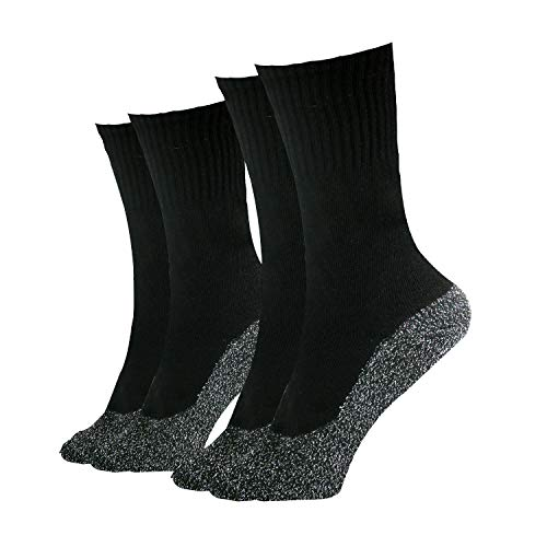 35 Below Ultimate Comfort Socks | Aluminized Thread, Soft Nylon Knit Warming Socks (Black,...