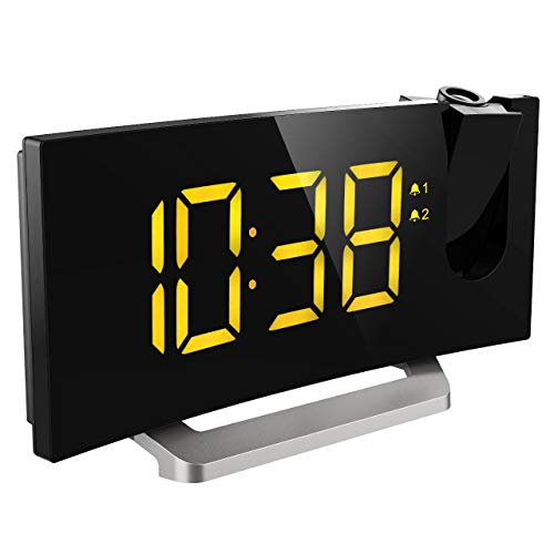 Mpow 5' Projection Alarm Clock, FM Radio...