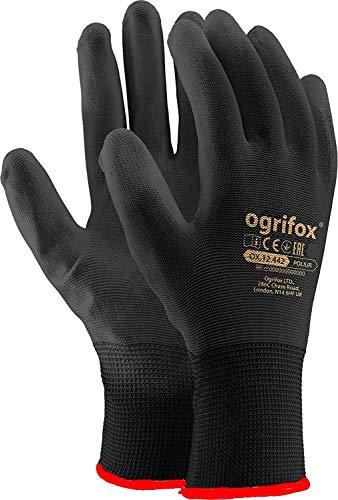 Guanti da lavoro in nylon rivestito in poliuretano, per Giardinaggio, edilizia, meccanica, nero, 24...