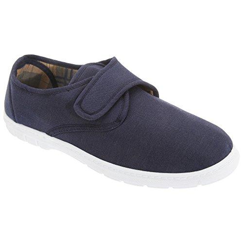 Scimitar - Zapatillas de Tela con Cierre de Cierre Adhesivo Hombre Caballero - Alpargatas/Verano (45 EUR) (Azul Marino Vaquero)
