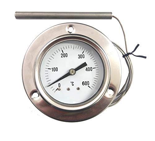 REDPOINT PIROMETRO/termometro 0-600 Inox per FORNI Pizza, BBQ,FORNI a Legna, etc.