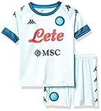 SSC NAPOLI Kit Match Away 2020/21 Gara Mixte Enfant, Bleu PÂLE-Vert, 10 Ans