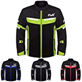 HWK Mesh Motorcycle Jacket Riding Air Motorbike Jacket Biker CE Armored Breathable (XXX-Large, Green)