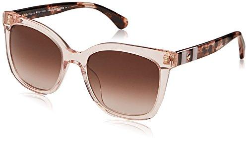 Kate Spade New York Women's Kiya Square Sunglasses, Peach, 53 mm